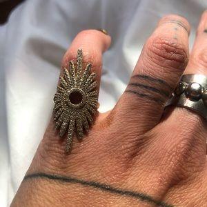 Diamond starburst ring size 5